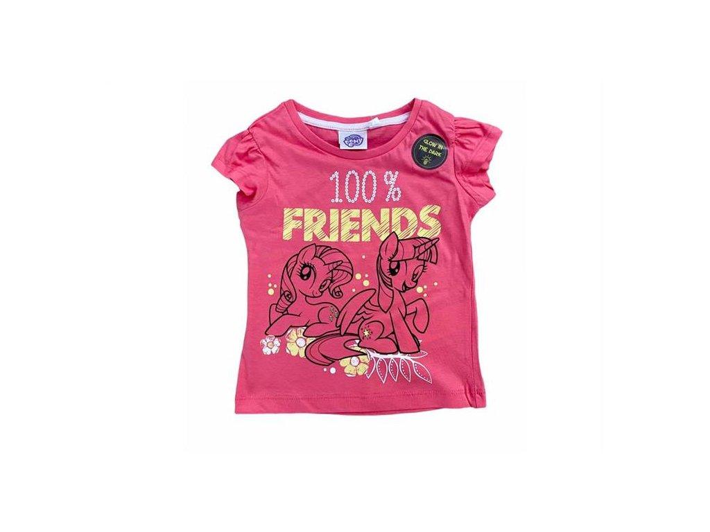 Tričko MY LITTLE PONY růžové svítící ve tmě