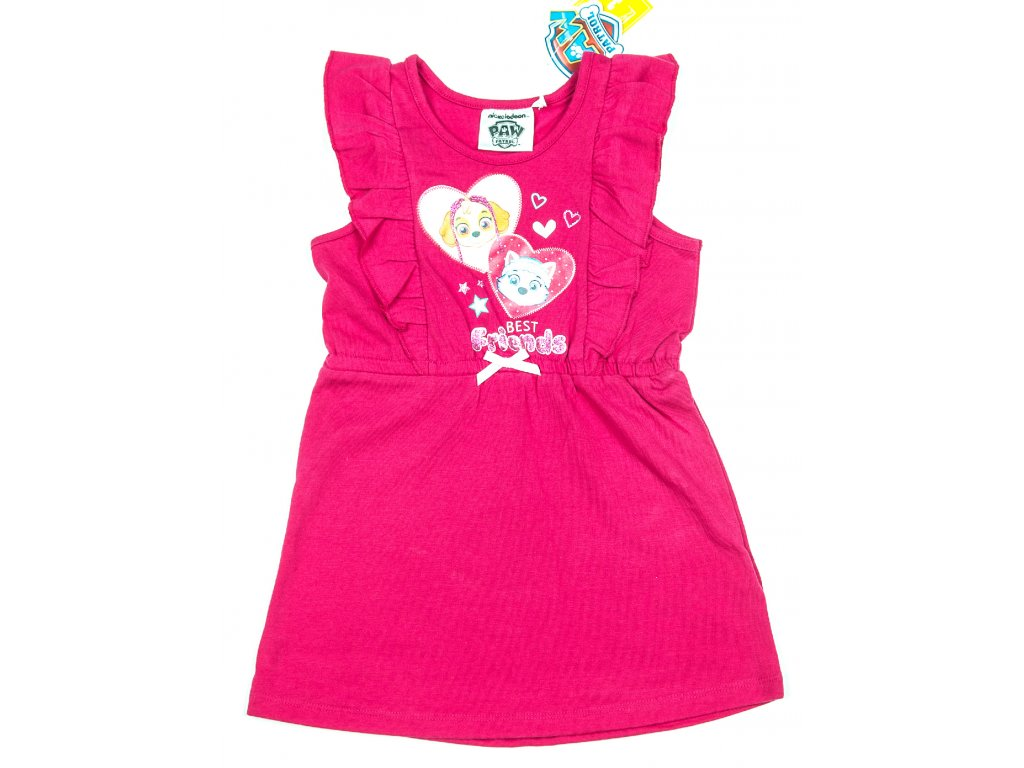Šaty TLAPKOVÁ PATROLA růžové