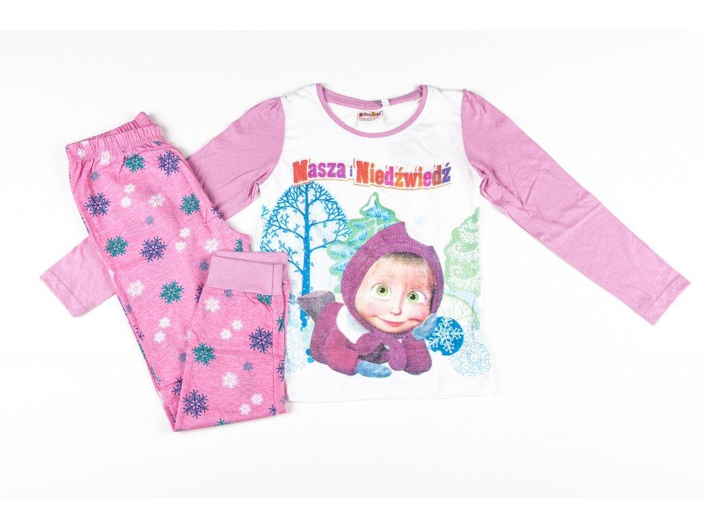 Pyžamo MÁŠA A MEDVĚD dívčí růžové