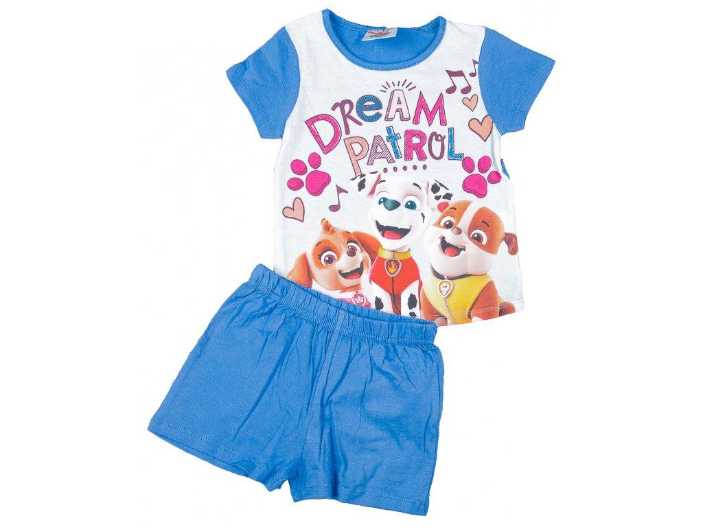 Letní pyžamo TLAPKOVÁ PATROLA dívčí fialové