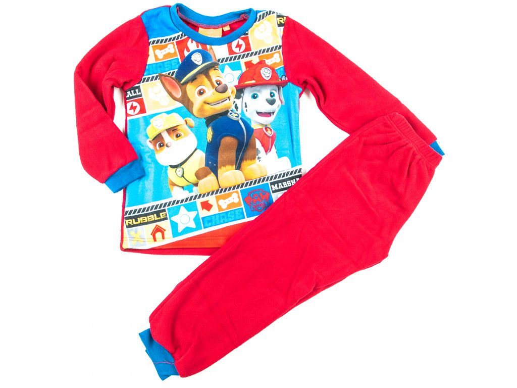 Pyžamo TLAPKOVÁ PATROLA fleece
