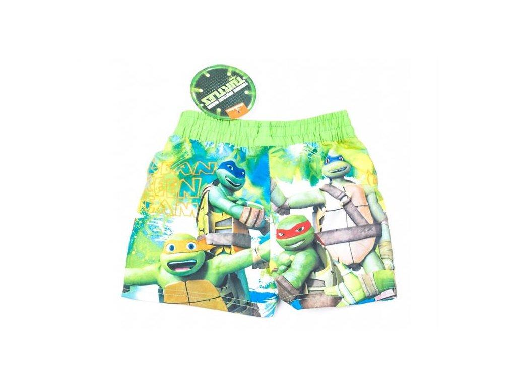 Plavky šortkové ŽELVY NINJA zelené