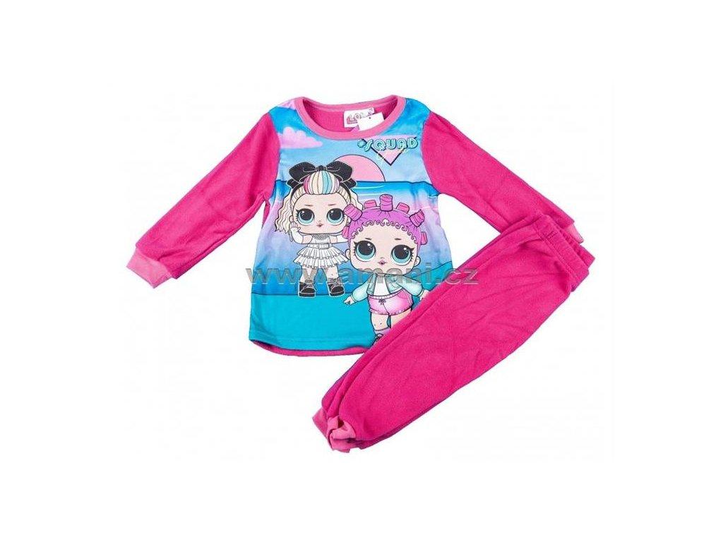 Pyžamo fleece LOL tm. růžové