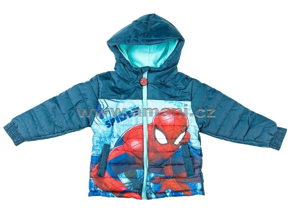 Zimní bunda SPIDERMAN modrá