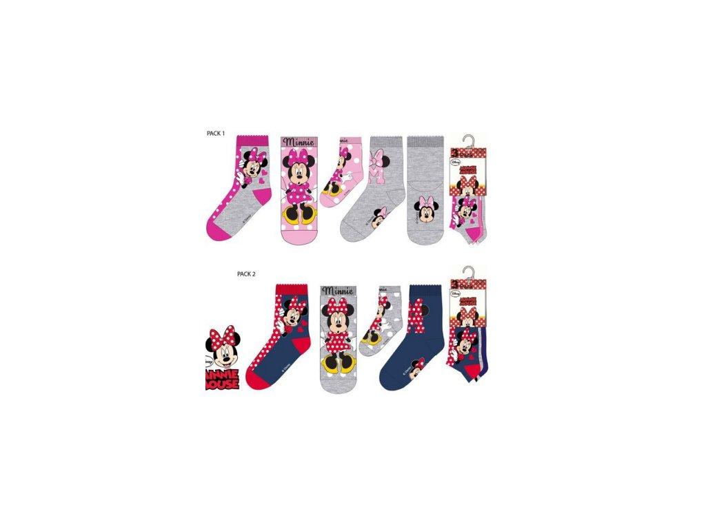 3 pack ponožky MINNIE