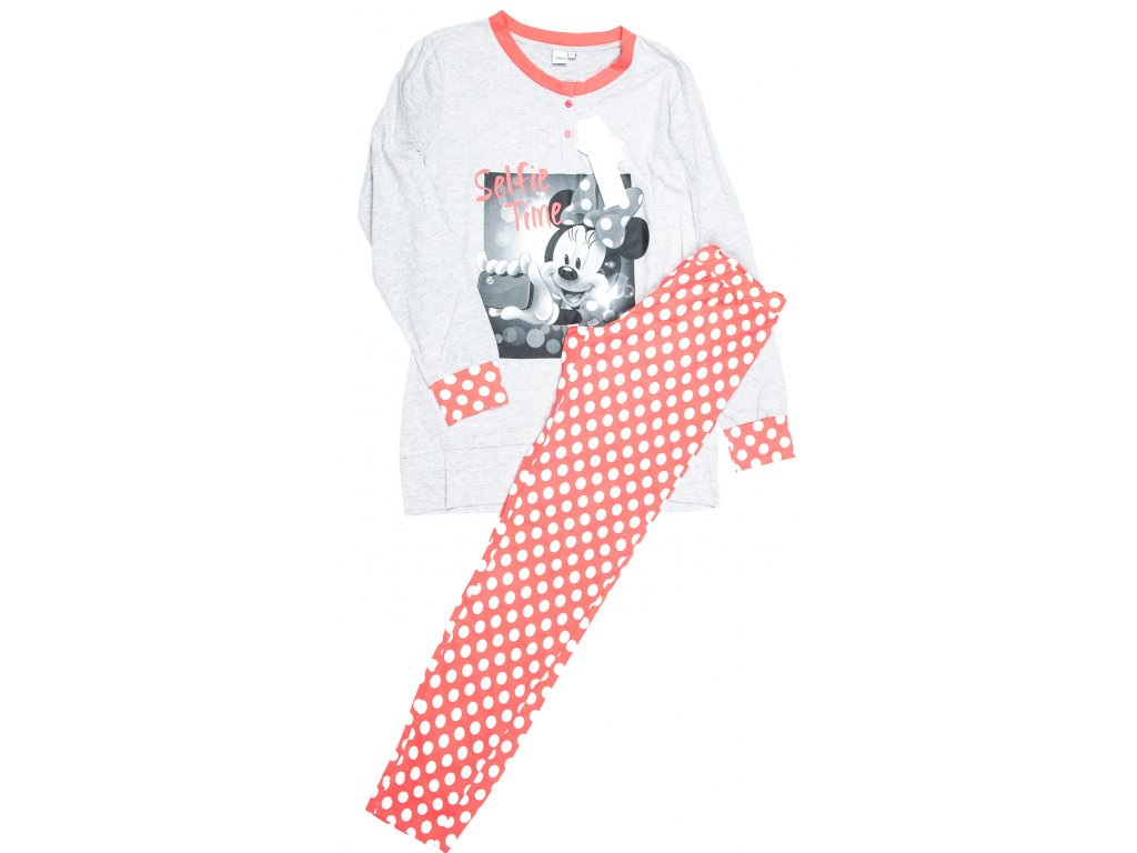 0b024f25bf9a Dámské - dívčí pyžamo MINNIE šedý vršek - Amani BBM s.r.o.
