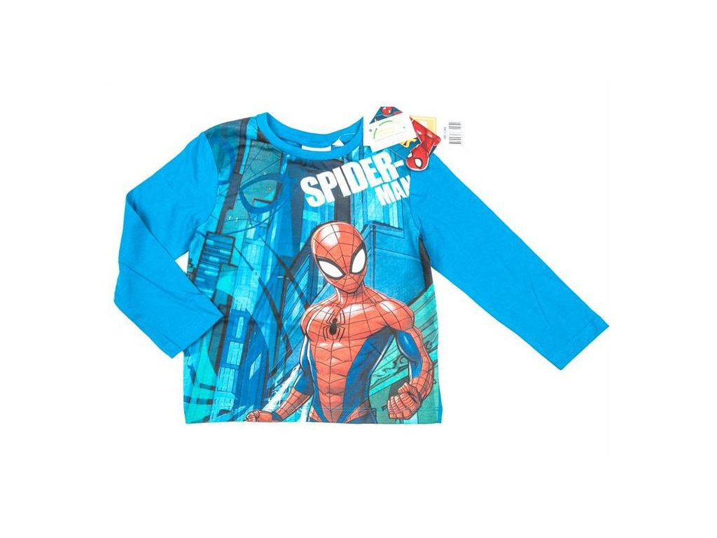 Tričko SPIDERMAN modré