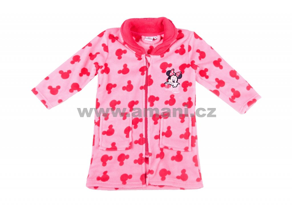 Župan MINNIE coral fleece růžový