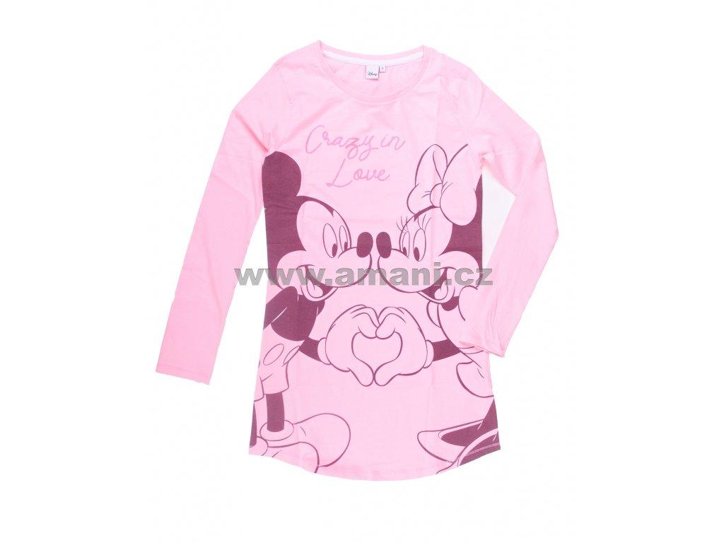 Noční košile MINNIE dámská růžová