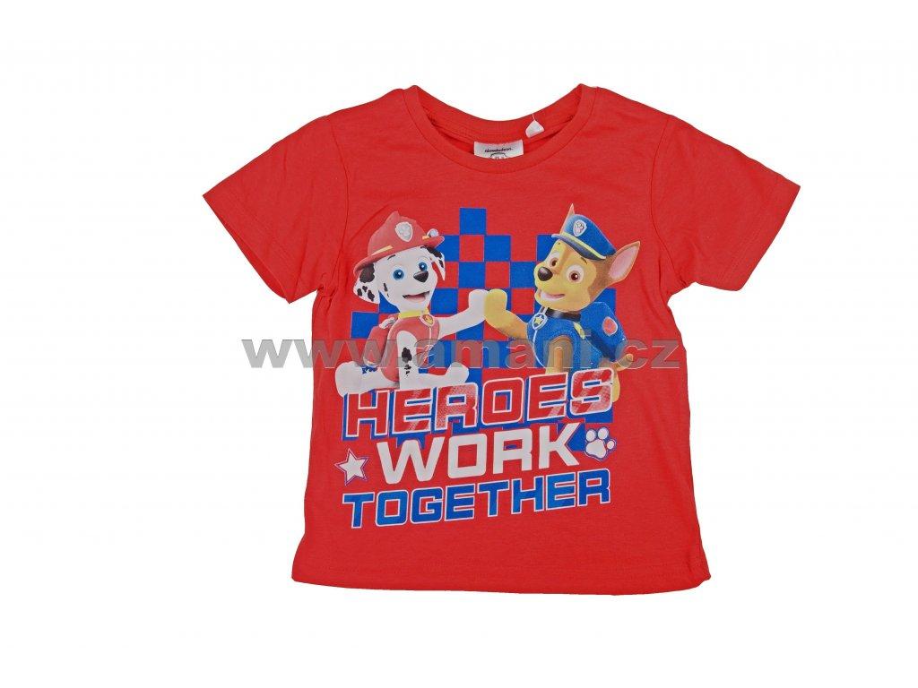 Tričko TLAPKOVÁ PATROLA chlapecké červené
