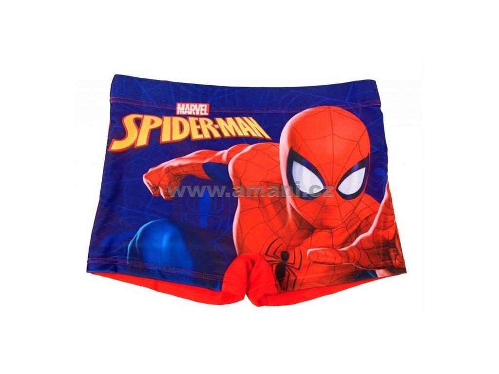 Nohavičkové plavky SPIDERMAN zadní díl červený