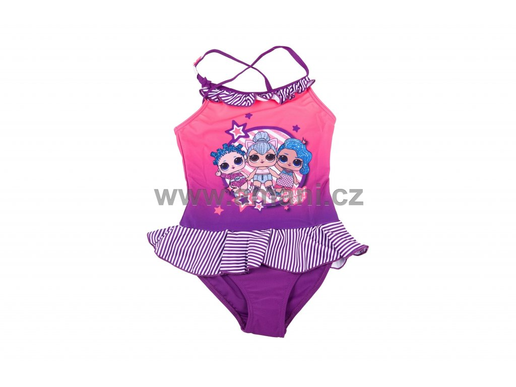 Plavky LOL jednodílné fialové