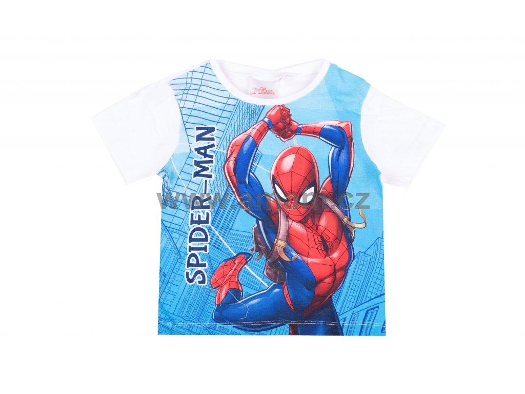 Tričko SPIDERMAN kr. rukáv bílé