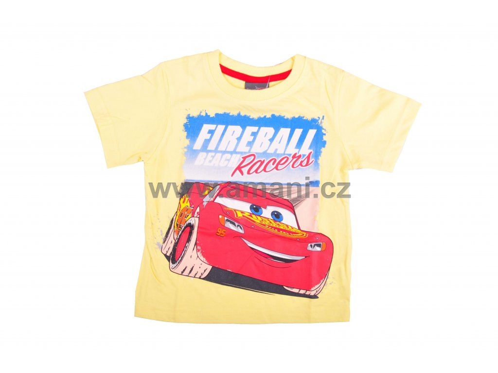 Tričko CARS žluté