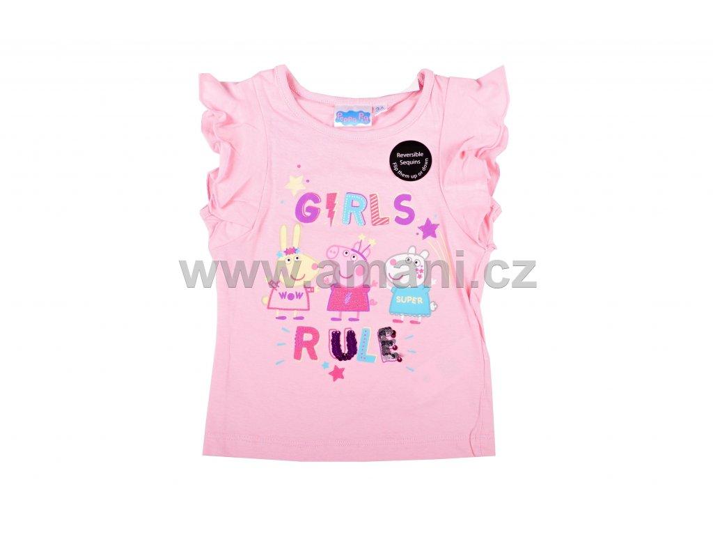 Tričko PEPPA PIG růžové