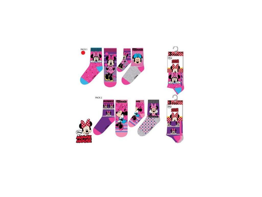 Klasické ponožky MINNIE 3 pack