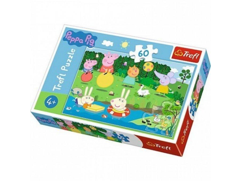 puzzle 60 elementow swinka peppa wakacyjna zabawa