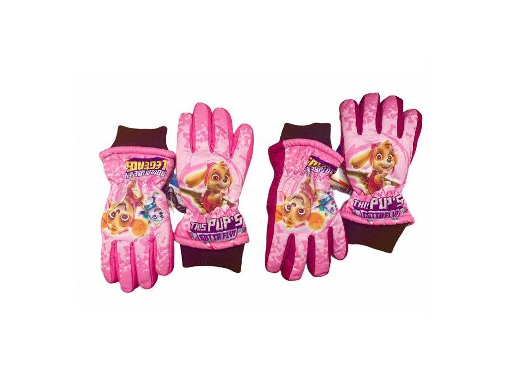Zimní teplé rukavice prstové TLAPKOVÁ PATROLA dívčí