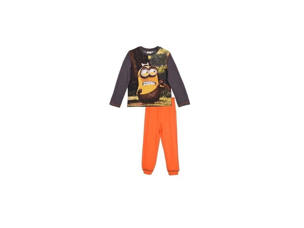 Pyžamo MIMONI chlapecké šedo - oranžové