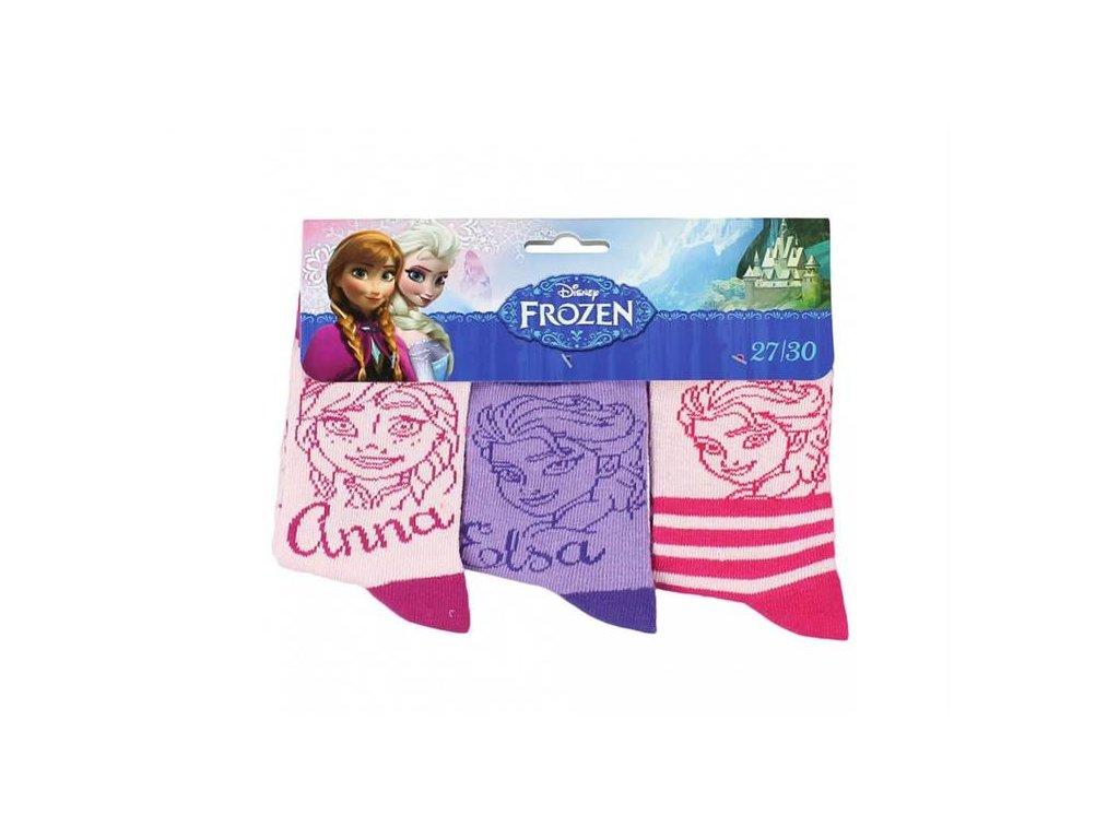 Klasické ponožky FROZEN 3 pack