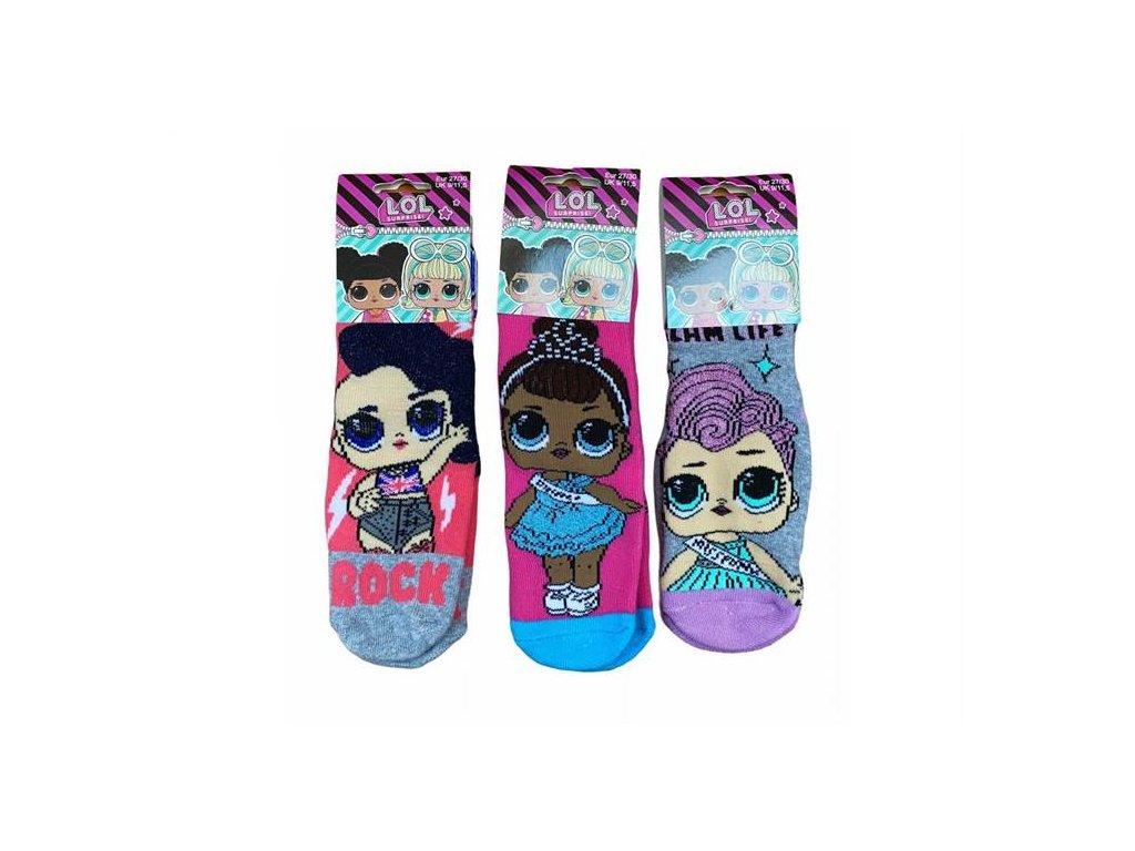 Silnější ponožky s protiskluzem LOL