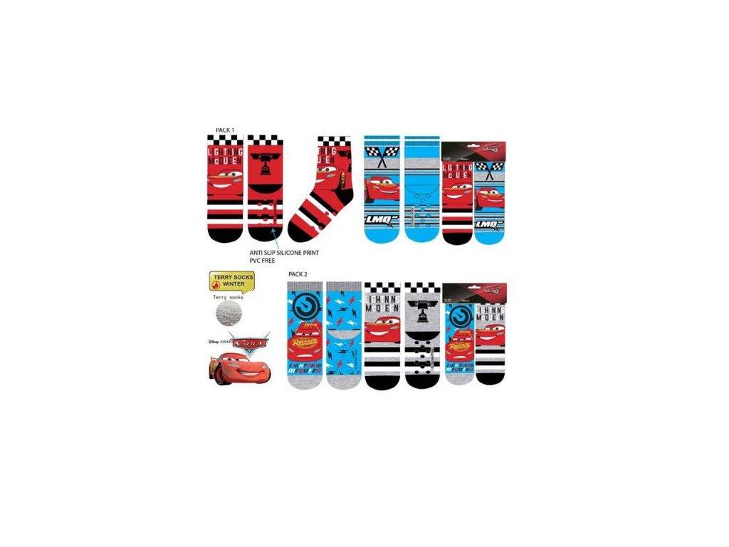Ponožky CARS s protiskluzem 2 páry v balení