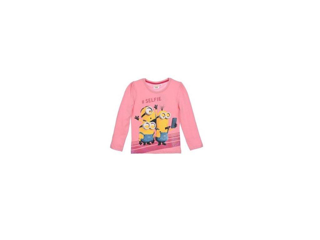 Tričko MIMONI dívčí dlouhý rukáv růžové