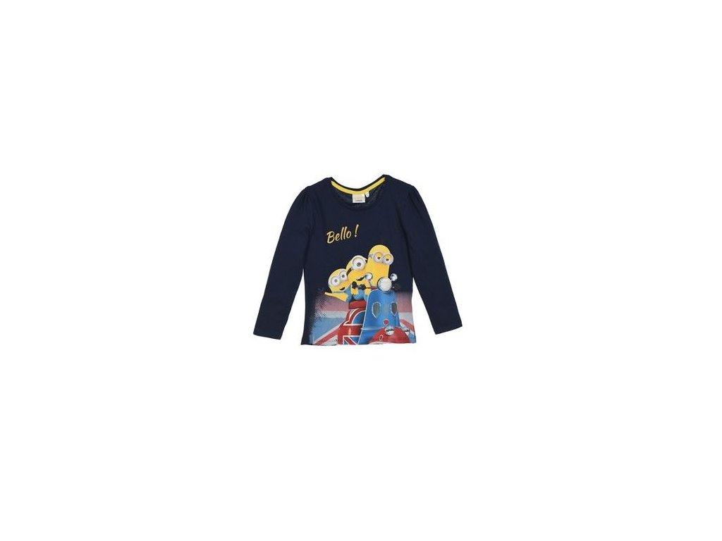 Tričko MIMONI dívčí dlouhý rukáv modré