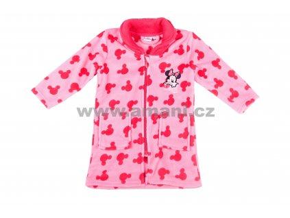 Župan MINNIE coral fleece růžový