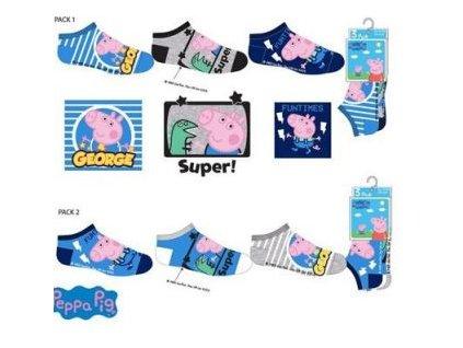 Kotníčkové ponožky 3 pack PEPPA PIG