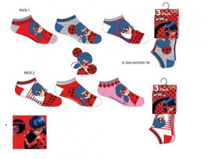 3 pack ponožky LADY BUG kotníčkové