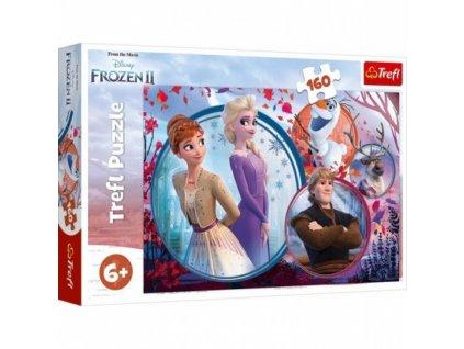 puzzle 160 elementow frozen 2 kraina lodu siostrzana przygoda