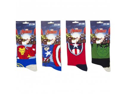 qe4723 socks for kids avengers marvel