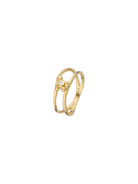 Prsten Meditation pozlacený 18kt zlatem