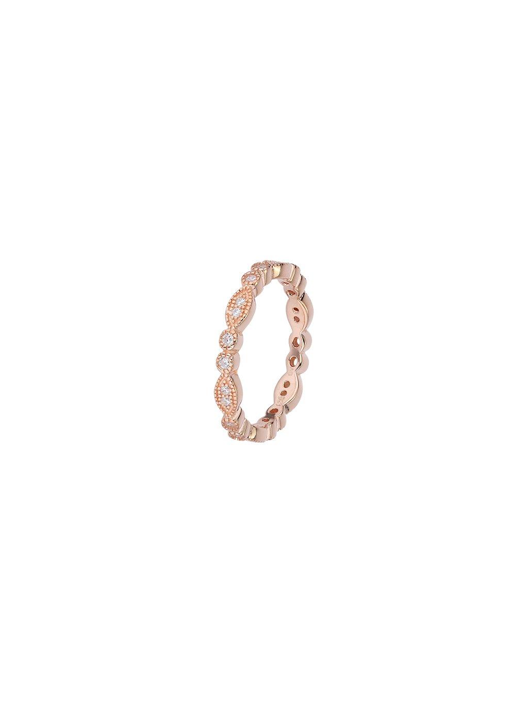 Prsten  Eternity pozlacený 18kt růžovým zlatem