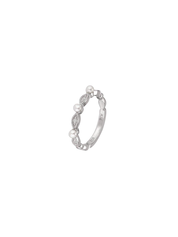 Prsten Pearls s perlami a zirkony