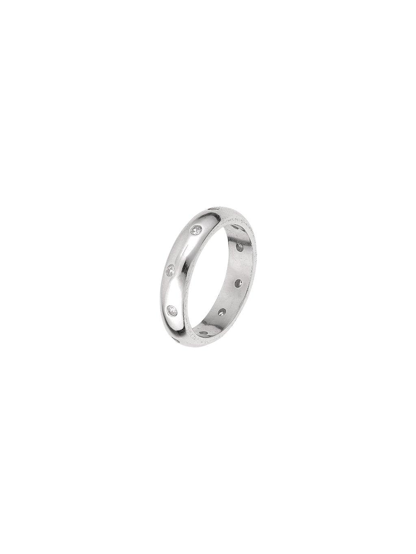 Stříbrný Eternity prsten se zirkony