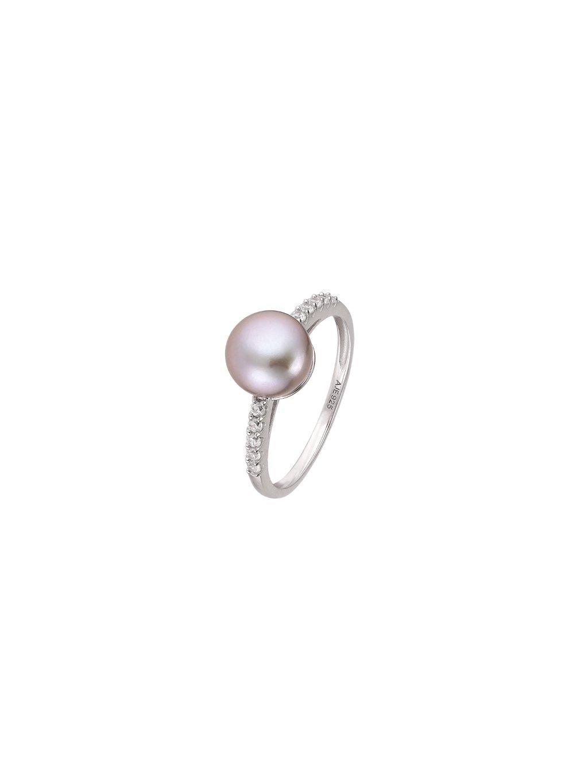 Prsten Pearls se zirkony a perlou