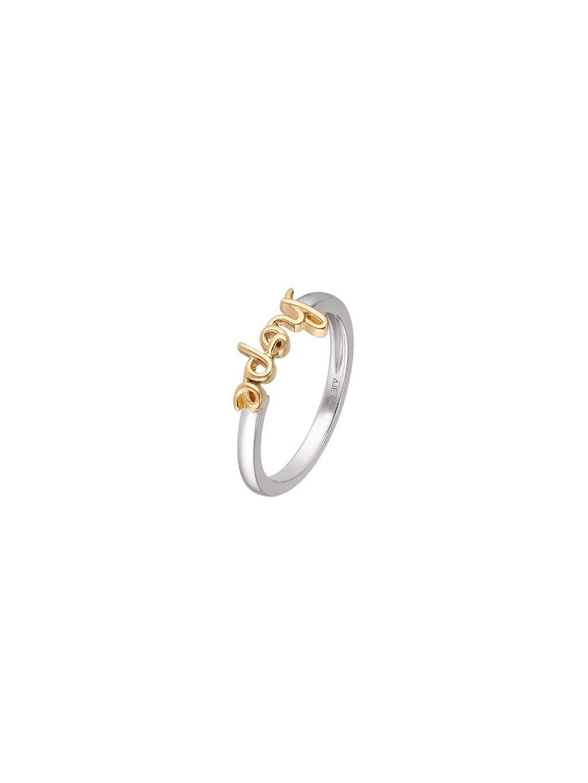 Stříbrný Harmony prsten se slovem Hope