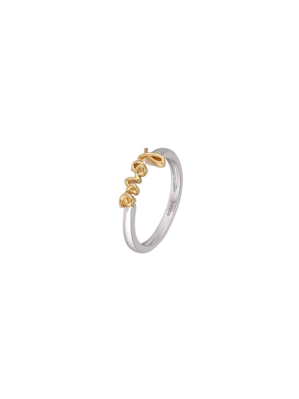 Stříbrný Harmony prsten se slovem Love