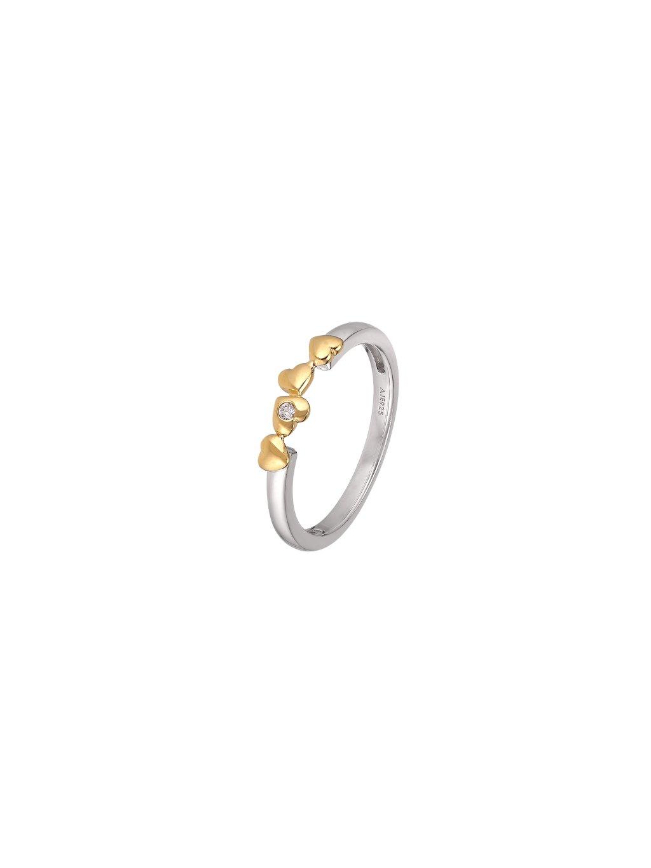 Stříbrný Harmony prsten se srdíčky