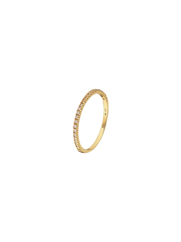 Prsten Eternity pozlacený 18kt zlatem