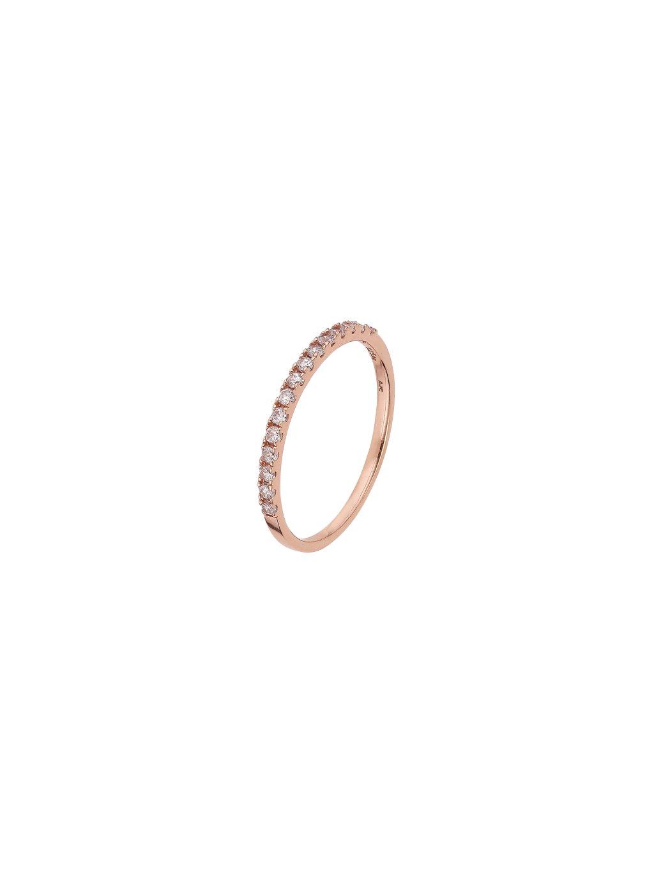 Prsten čirý Eternity pozlacený 18kt zlatem
