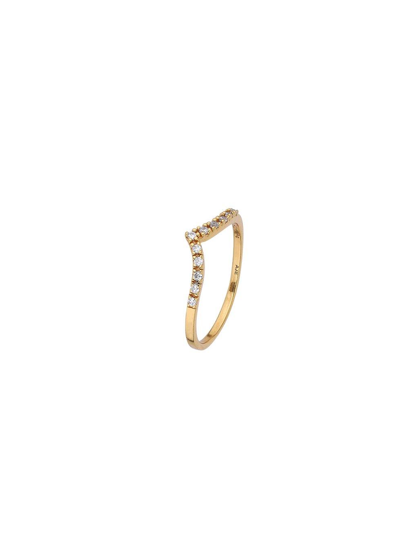 Prsten Harmony pozlacený 18kt zlatem