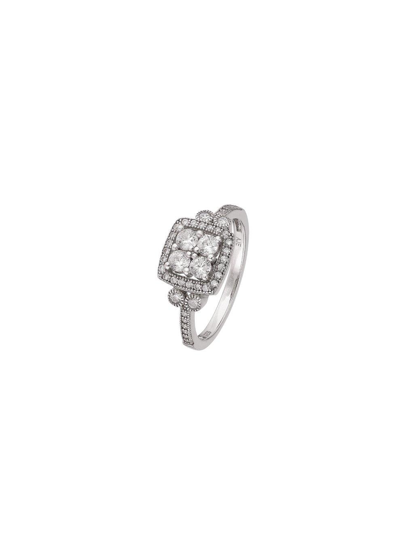 Stříbrný Infinity prsten