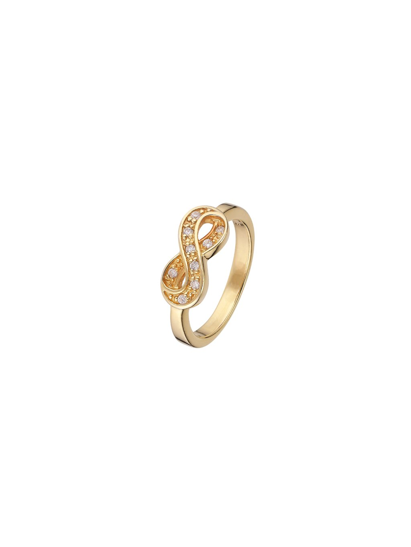 Prsten Infinity pozlacený 18kt zlatem