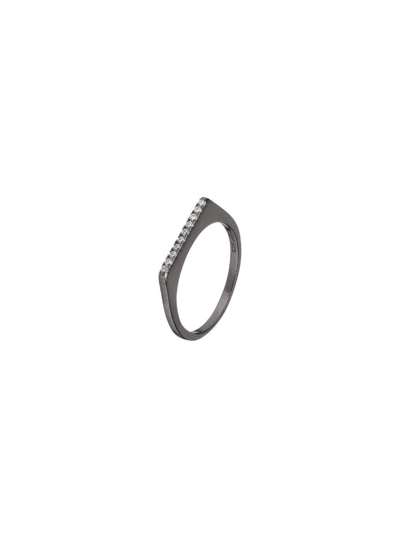 Černý Fire prsten se Zirkony