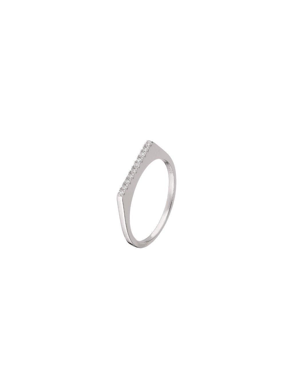 Stříbrný Fire prsten