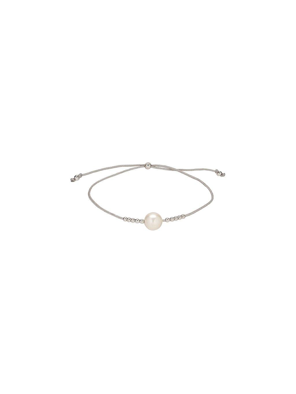 Stříbrný Carousel náramek s perlou
