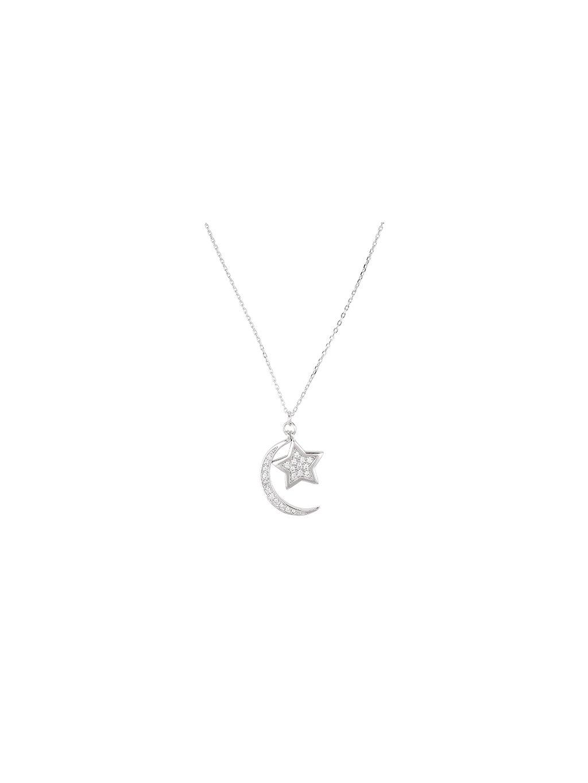 Stříbrný Galaxy náhrdelník